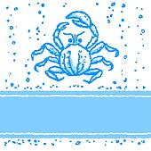 Vector card with crab