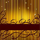 Abstract celebratory gold background for text
