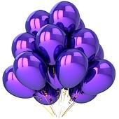 Beautiful purple helium balloons