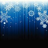 Abstract winter snowfall background
