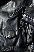 vintage black leather motorcycle jacket