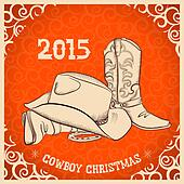 Western New Year with western boots and western hat