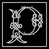 Celtic Knot-work Capital Letter P
