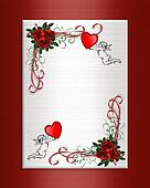 Valentine Background hearts roses