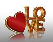 Valentine graphic red heart