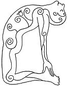 Asana Art - Camel Pose