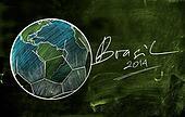 Brasil 2014 Earth Ball Sketch