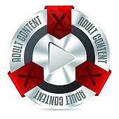 Metallic XXX badge