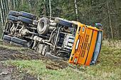 Lorry car crash accident