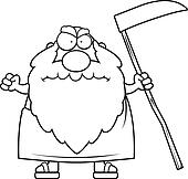 Father Time Clip Art - Royalty Free - GoGraph