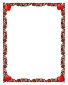 Valentine ornamental frame