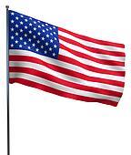 USA American flag waving