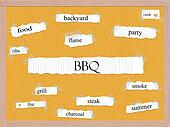 BBQ Corkboard word cloud concept