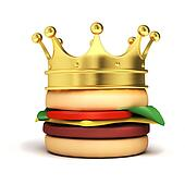 Burger and crown