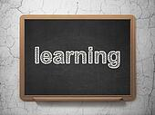 Education concept: Learning on chalkboard background