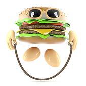 3d Burger skipping
