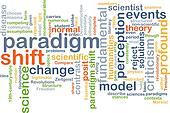 Paradigm shift wordcloud concept illustration