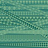 Green background with African geometric ornaments