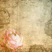 Composite images of rose and grungy textures (1 of set)