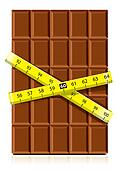 chocolate with measure tape