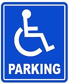 wheelchair parking space sign