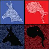 Star political party symbols