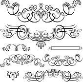 Vector Swirl Ornament Set