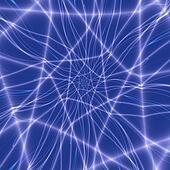 Blue Web Spiral