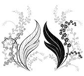 Silhouette of Lily of the Valley
