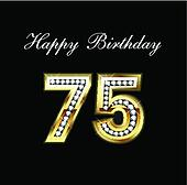 Happy birthday 75