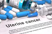 Diagnosis - Uterine Cancer. Medical Concept. 3D Render.