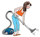with the vacuum cleaner  Vacuum The Carpet Clipart