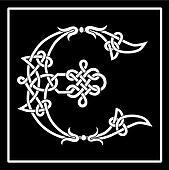 Celtic Knot-work Capital Letter E