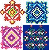 Ukraine ethnic patterns.