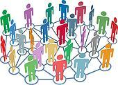 Many people group talk network social media