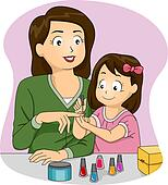 Mother and Daughter Nail Polish
