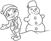Boy and Snowman