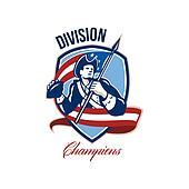 American Football Division Champions Shield Retro