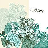 Wedding background in vintage style