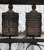 Prayer wheels with Chenrezig mantra