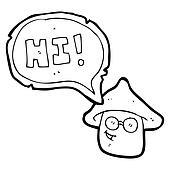 magic mushroom cartoon character