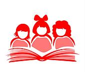 Girls and book