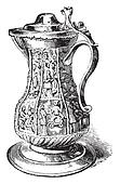 Pitcher from Shakespeare, vintage engraving.