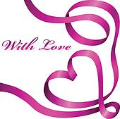 Pink decoration ribbon