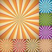 Sunburst colorful backgrounds.