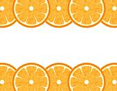 Abstract slice orange border