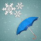 Umbrella with snowflakes