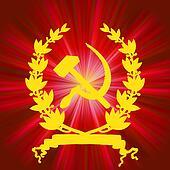 Soviet communistic background. EPS 8
