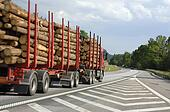 timber truck on the move