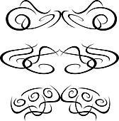 Patterns of tribal tattoo elements